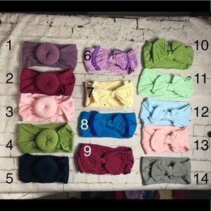 6 for $25 Infant Toddler Nylon Bows Headbands New